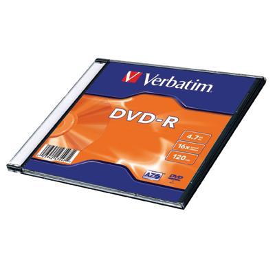 Dysk DVD-R Verbatim 4,7GB slim 43557-133