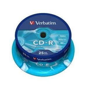 Dysk CD-R Verbatim 700MB cake (25) 43432-162