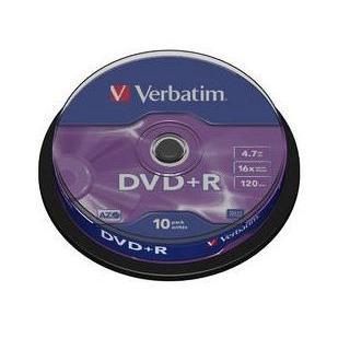 Dysk DVD R Verbatim 4,7GB cake (10) 43498-164