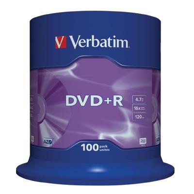 Dysk DVD R Verbatim 4,7GB cake (100) 43551-166