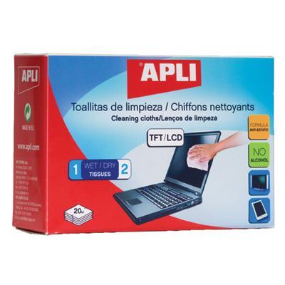 Chusteczki czyszczące - 20 szt. Apli AP11828-231