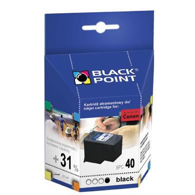 Tusz Black Point Canon PG-40 nabój czarny 21 ml-49