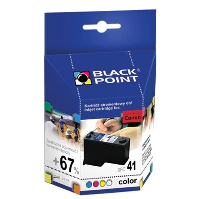 Tusz Black Point Canon CL-41 nabój kolor 20 ml-50