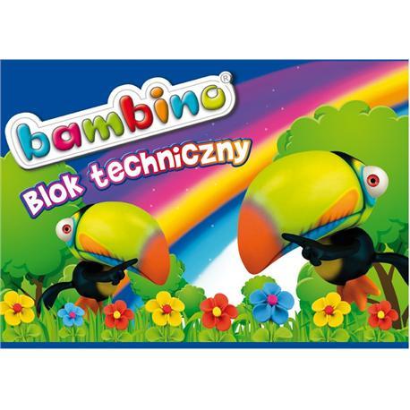 Blok techniczny A4 Bambino 10k. biały-14580