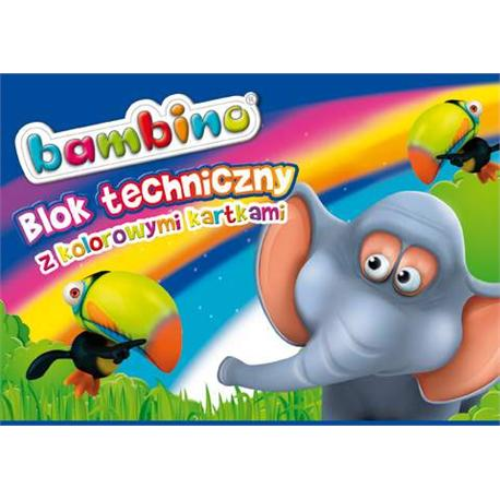 Blok techniczny A4 Bambino 10k. kolorowy-14617