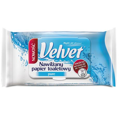 Papier toaletowy Velvet nawilżany Pure-16169