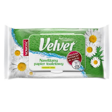Papier toaletowy Velvet nawilżany Rumianek i Aloes-16170