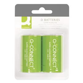 Baterie alkaliczne Q-Connect LR20 1,5V 2szt