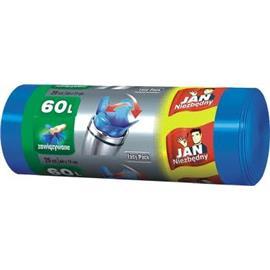 Worki 60l niebieskie zawiązyw.na rolce Jan N.(20)