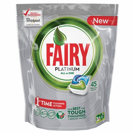 Fairy All in One kapsułki Platinum Regular 45 szt-16418