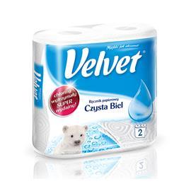 Ręcznik papierowy Velvet czysta biel 2szt.