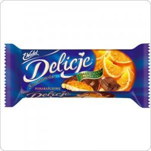 Ciastka Delicje Szampańskie pomarańczowe 147g-3149