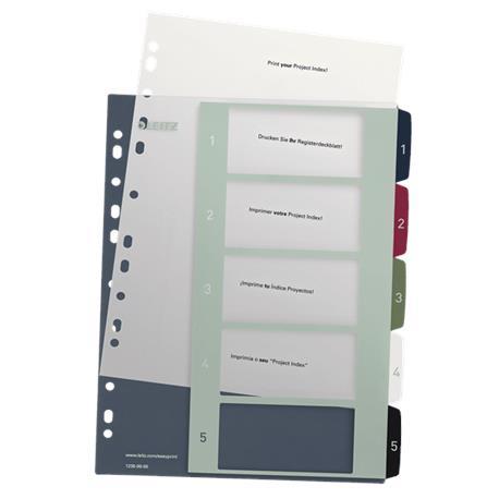 Przekładki PP Leitz Style Maxi A4/1-5 na zamów.**-18448