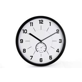Zegar ścienny MSP30 30cm biało czarny