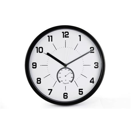 Zegar ścienny MSP30 30cm biało czarny-18643