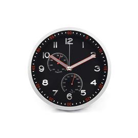 Zegar ścienny PSP30 30cm czarno srebrny