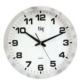 Zegar ścienny 851A 40cm biało srebrny