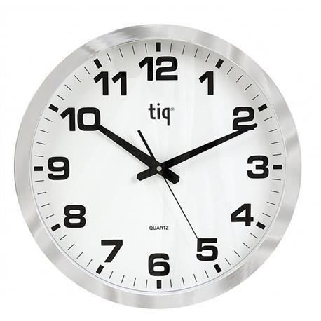 Zegar ścienny 851A 40cm biało srebrny-18647