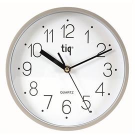 Zegar ścienny W99158 22,5cm biało srebrny