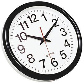 Zegar ścienny Q-Connect Tokyo 28cm biało czarny