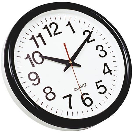Zegar ścienny Q-Connect Tokyo 28cm biało czarny-10753