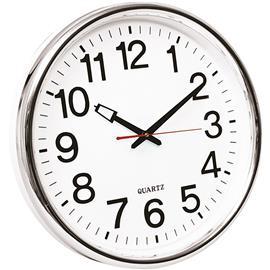 Zegar ścienny Q-Connect Warsaw 35cm biało srebrny