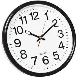 Zegar ścienny Q-Connect Wels 35cm biało czarny