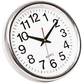 Zegar ścienny Q-Connect Budapest 28cm biało srebrn