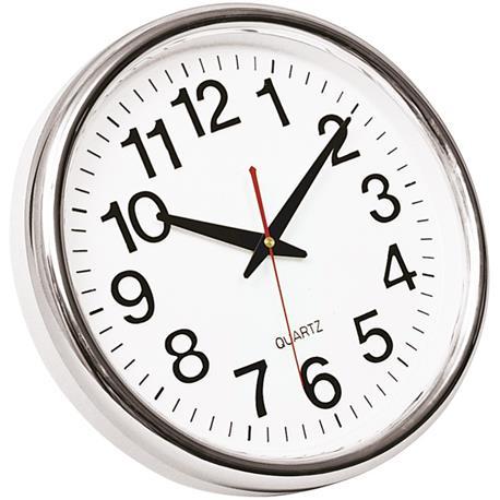 Zegar ścienny Q-Connect Budapest 28cm biało srebrn-18711
