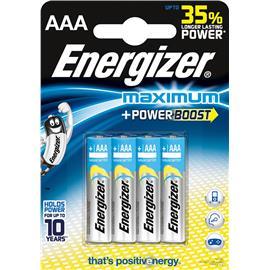 Baterie alkaliczne Energizer Maximum LR03 4 sztuki