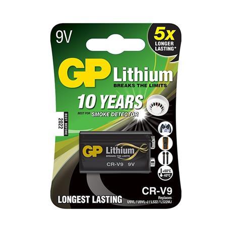 Baterie litowe GP 9V 1 sztuka-18910