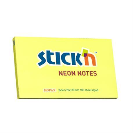 Bloczek Stick'n 76x127 neon żółty -19157