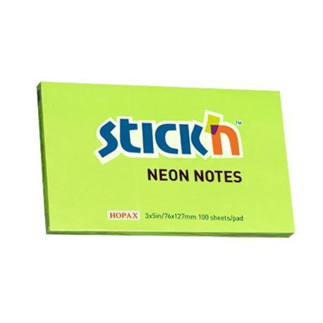 Bloczek Stick'n 76x127 neon zielony-19161