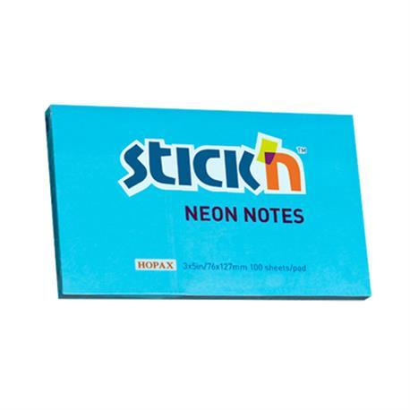Bloczek Stick'n 76x127 neon niebieski-19162