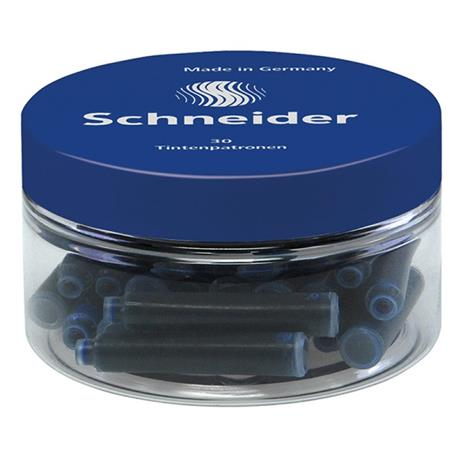 Naboje atramentowe Schneider 30 sztuk niebieskie-19222