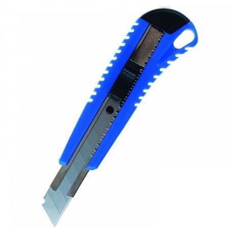 Nóż biurowy Grand 18mm z prowadnicą niebieski-20099