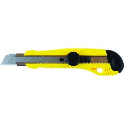 Nóż biurowy Grand 18mm z prowadnicą żółty-20095