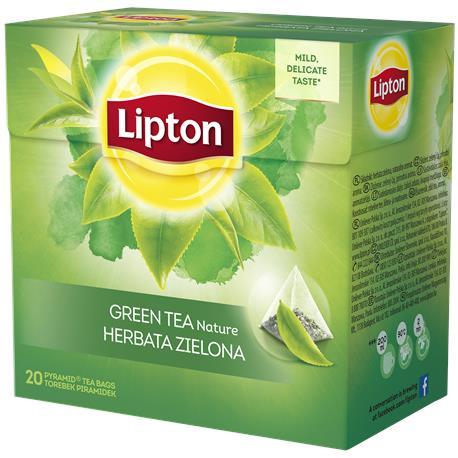 Herbata Lipton piramidka Green Tea 20 torebek-20355