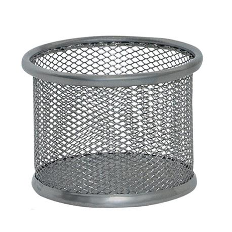 Przybornik ażurowy na spinacze Q-Connect srebrny-20920