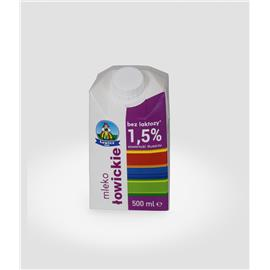Mleko Łowickie bez laktozy 1,5% 0,5L