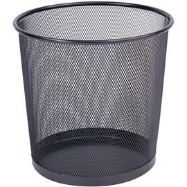 Kosz metal. siatka Q-Connect czarny 12L