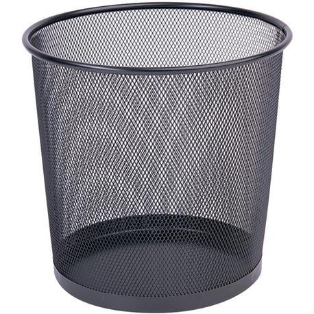 Kosz metal. siatka Q-Connect czarny 12L-20948