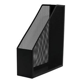 Pojemnik metal.skośny Q-Connect czarny