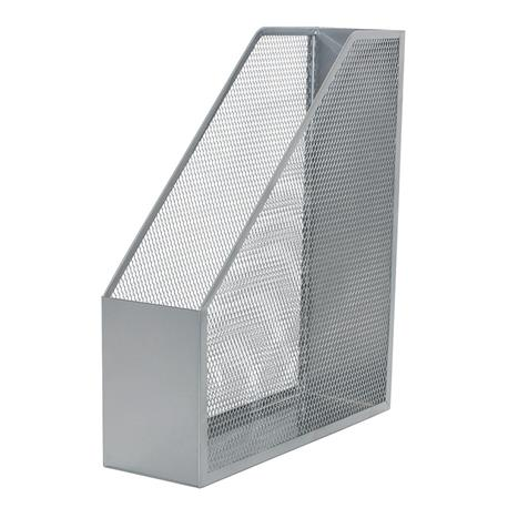 Pojemnik metal.skośny Q-Connect srebrny-20955