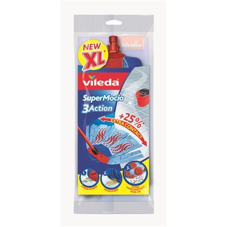 Mop paskowy Vileda 3 Action Velour XXL zapas-21063