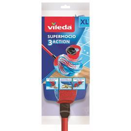 Mop paskowy Vileda 3 Action Velour XXL z kijem