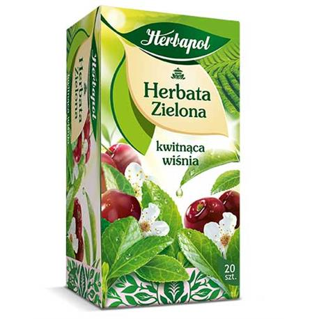 Herbata Herbapol zielona kwitnąca wiśnia (20)-21152