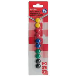 Magnesy kolorowe Office Products 15mm (10)