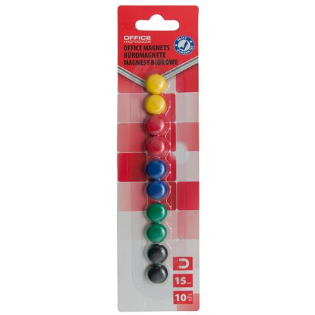 Magnesy kolorowe Office Products 15mm (10)-21321