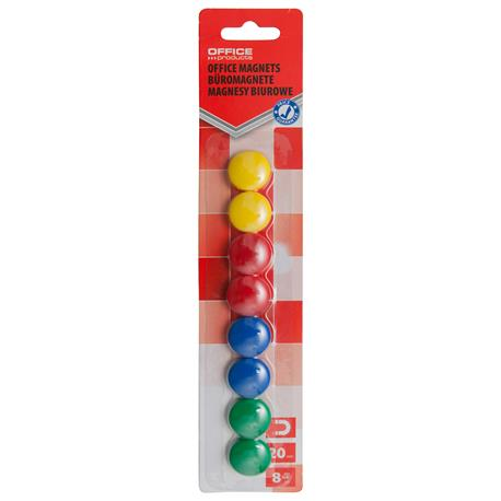 Magnesy kolorowe Office Products 20mm (8)-21322